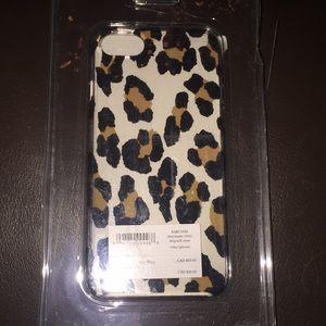 Kate spade leopard clear iPhone case